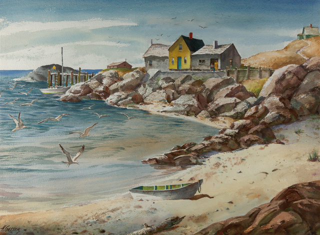 , 'Sand, Sea, and Rocks,' , Questroyal Fine Art