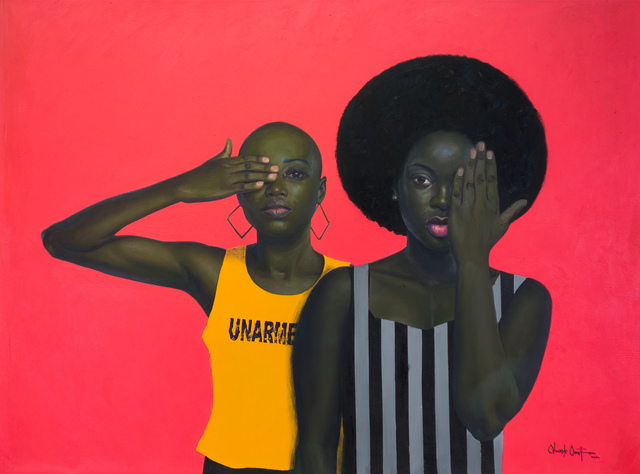 oluwole omofemi, 'Unarmed ', 2020, Painting, Oil and acrylic on canvas, Out of Africa Gallery