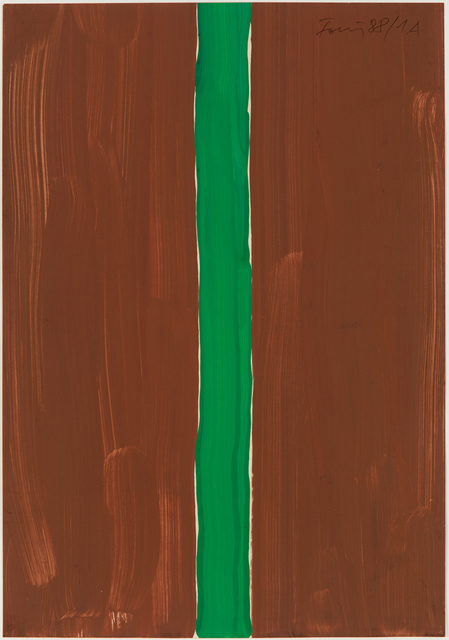 , 'Untitled (brown-green),' 1988, Hollis Taggart