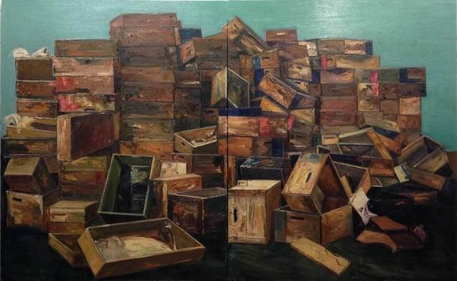 , 'Piled castles Series 2 ,' 2014, Purple Roof Art Gallery