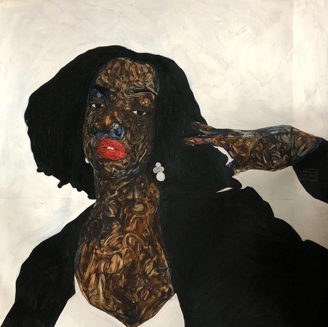Amoako Boafo, 'Monica', 2019, Mariane Ibrahim Gallery
