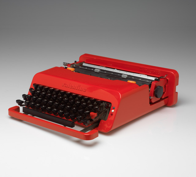 Ettore Sottsass, 'Valentine Portable Typewriter and Case', 1969, Design/Decorative Art, Plastic, rubber and metal, RISD Museum