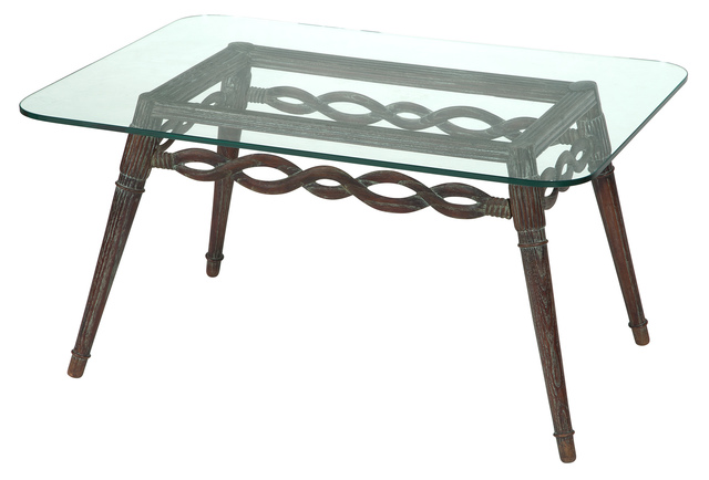 'Pier Luigi Colli Limed Oak and Glass Low Table Torino, Italy', 1940s, Doyle