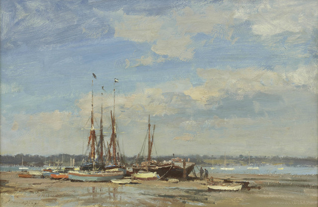 , 'Barges and Dinghies – Pin Mill,' 1968, Portland Gallery
