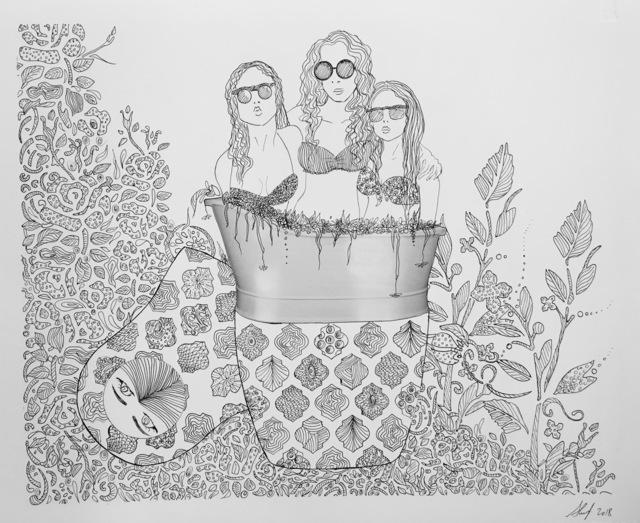 , 'Three Girls,' 2018, Contemporary Art Platform Kuwait