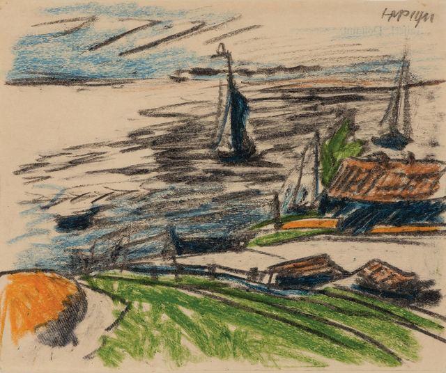 Max Pechstein, 'Fischerboote an der Kurischen Nehrung', Doyle