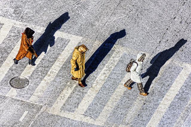 Mitchell Funk, 'Synchronous Pedestrians', 2019, Robert Funk Fine Art