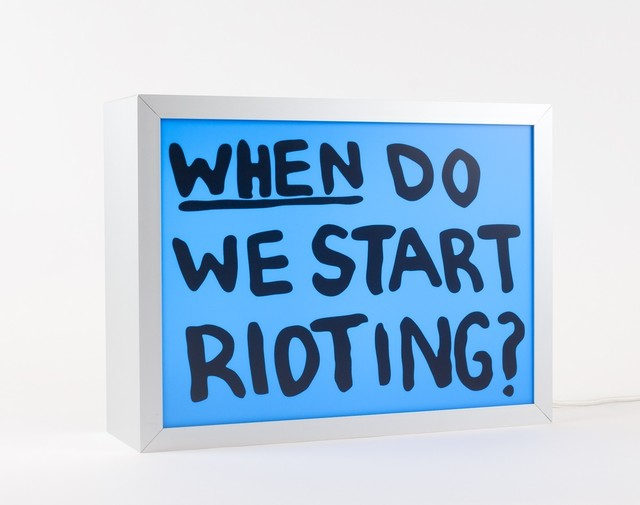 , 'When do we start rioting?,' 2018, Krakow Witkin Gallery