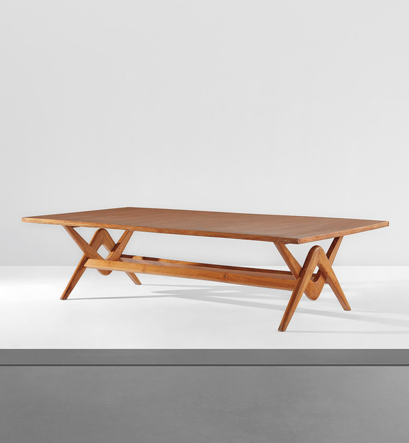 """Le Corbusier, '""""Committee"""" table, model no. LC/PJ-TAT-14-B, designed for the Assembly, Chandigarh', 1963-64, Phillips"""
