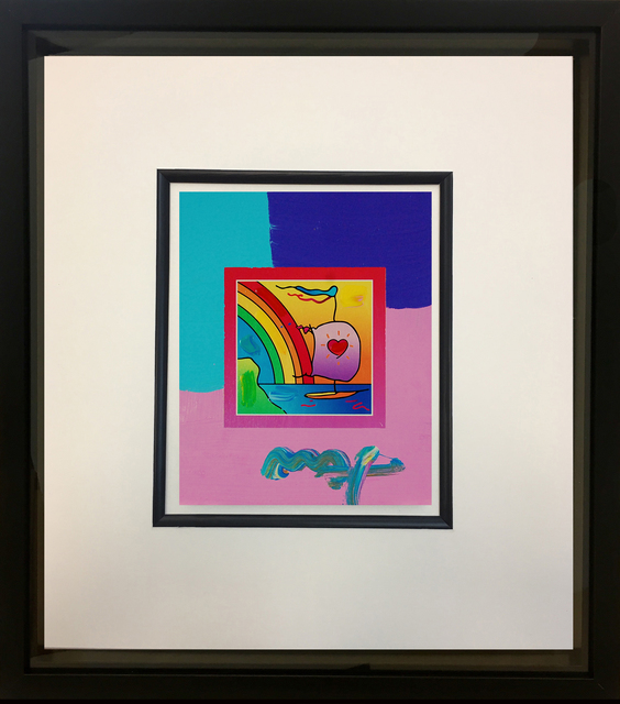 Peter Max, 'Sailboat with Heart on Blends 2007 #796', 2007, Baterbys Art Gallery