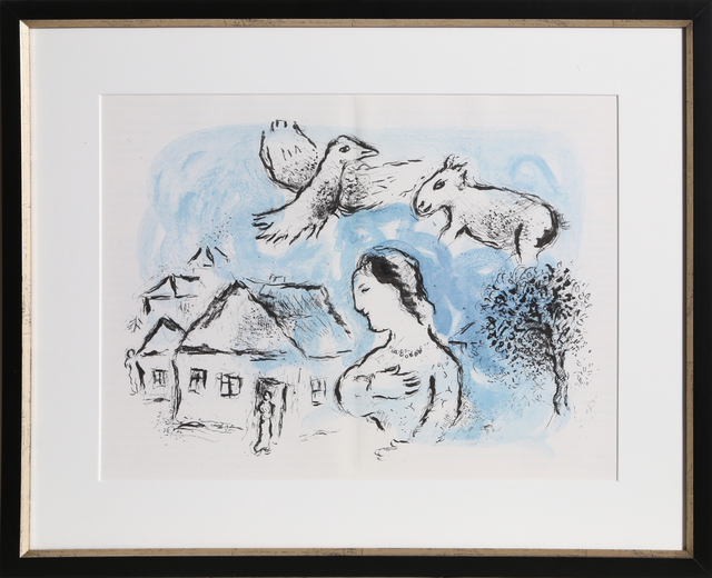 Marc Chagall, 'The Village, from Derrière le Miroir ', 1977, RoGallery