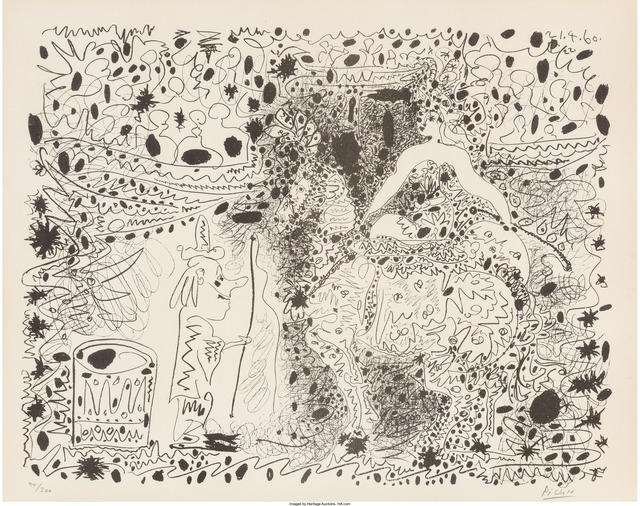 Pablo Picasso, 'L'écuyère', 1960, Print, Lithograph in colors on Arches paper, Heritage Auctions
