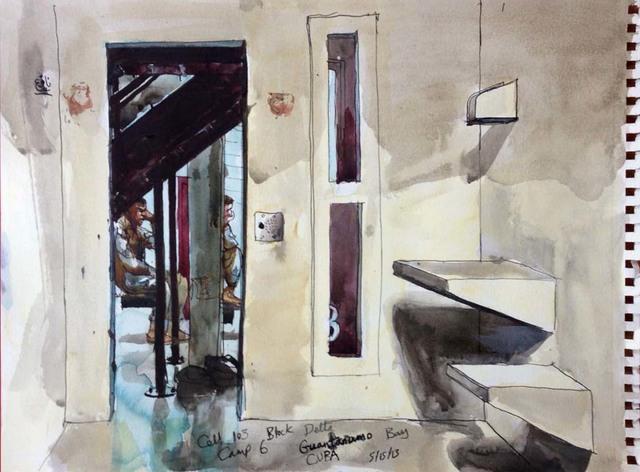 , '5/15/13, Cell 103, Block Delta, Camp 6, Guantanamo Bay, Cuba,' 2013, Postmasters Gallery