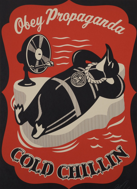 Shepard Fairey (OBEY), 'Cold Chillin' (Red)', 2008, KP Projects