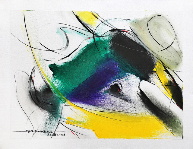 Sujth Kumar G.S. Mandya, 'Bull Painting - 682', 2018, MayinArt