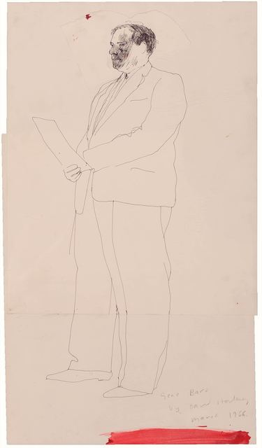 David Hockney, 'Gene Baro (diptych)', 1966, Doyle