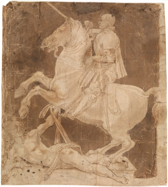 Antonio Pollaiuolo, 'Study for the Equestrian Monument to Francesco Sforza', early to mid 1480s, The Metropolitan Museum of Art