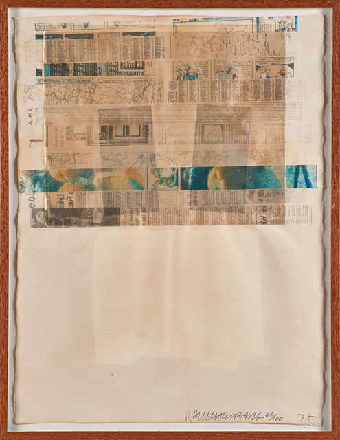 Robert Rauschenberg, 'Arcade', 1975, Mixed Media, Offset lithograph in colors with collage and embossing on handmade paper (framed), Rago/Wright