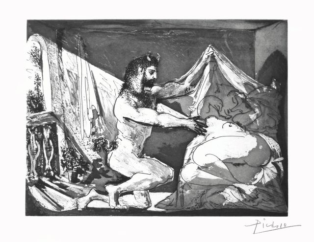 , 'Faunus Unveiling a Sleeping Woman (Jupiter and Antiope after Rembrandt),' 1936, McClain Gallery
