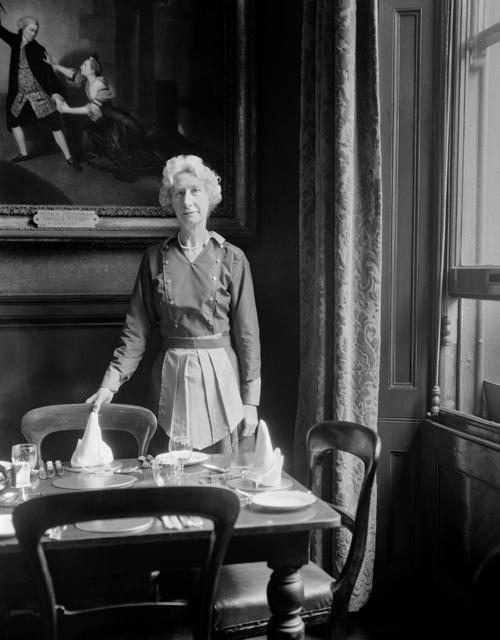 , 'Waitress, Garrick Club, London,' 1962, ROSEGALLERY