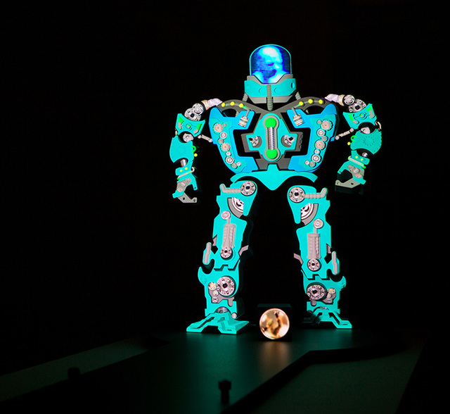 Peter Sarkisian, 'VideoMorphic Figure (Robot 4 v 1)', 2013, Modernism Inc.