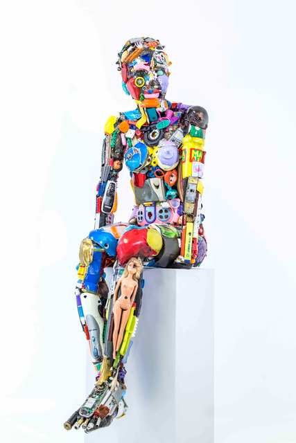 , 'Ragazzina seduta,' 2016, SimonBart Gallery