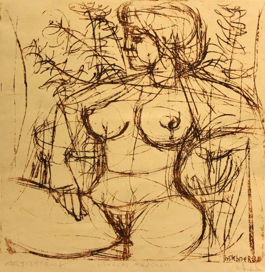 Herbert Siebner, 'Vitales Maedchen', 1986, Wallace Galleries