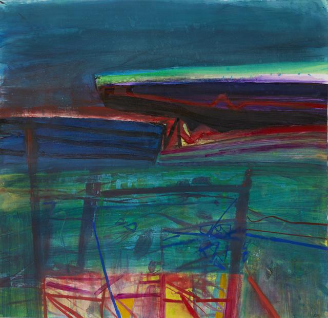 Barbara Rae, 'Red Fence - Ceide', Portland Gallery