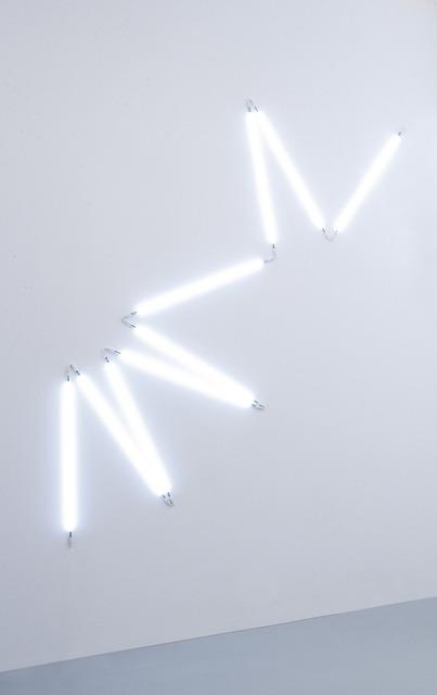 François Morellet, ' π piquant neonly n. 7 1=12°', 2007, Painting, White neon, A arte Invernizzi