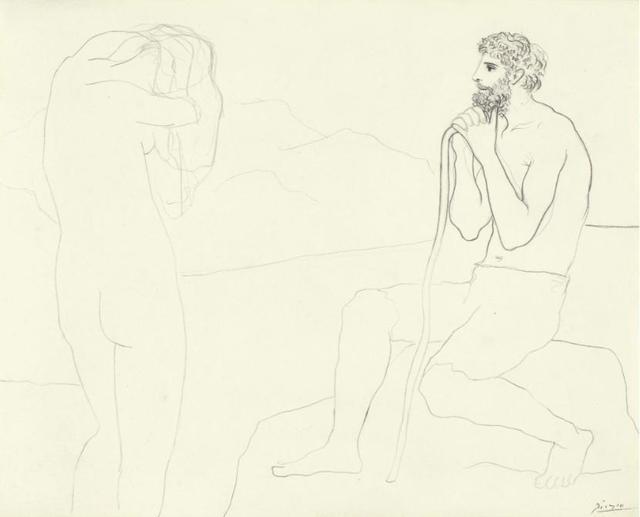 Pablo Picasso, 'Homme et Femme', 1926, David Benrimon Fine Art