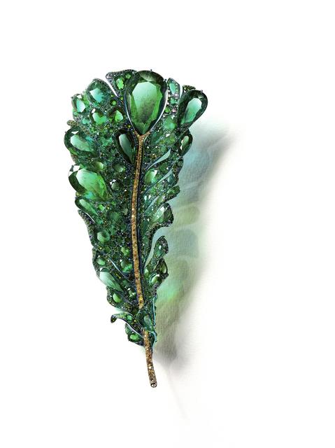 , '2020 Black Label Masterpiece II Green Plumule Brooch,' 2020, CINDY CHAO The Art Jewel
