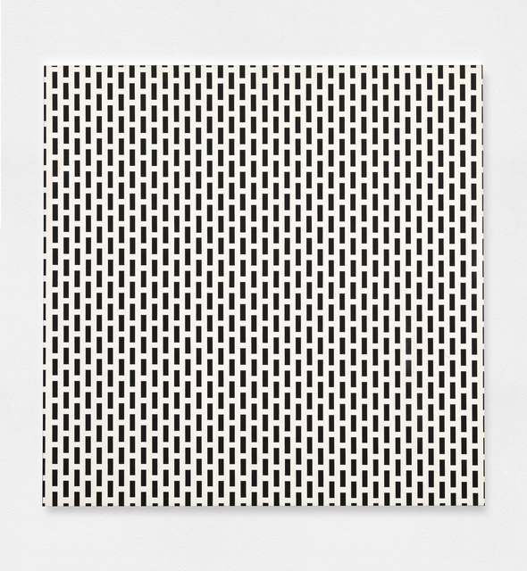 , '3 trames de carrés = 1 trame de tirets,' 1975, The Mayor Gallery