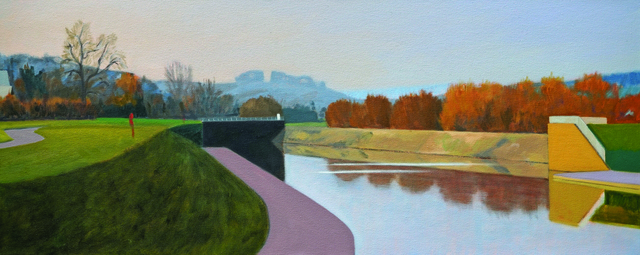 Alex Lowery, 'Flood Scheme', 2018, Painting, Oil on canvas, Sladers Yard