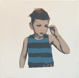 Boy with Blue Stripes