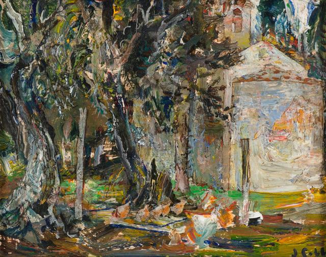 John Cobb, 'Chapel at Villa Monte, Chickens in the Coop', 2018, Valley House Gallery & Sculpture Garden