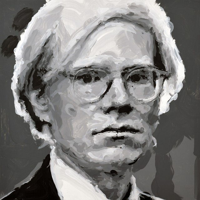 , 'Andy Warhol Robot Painting, Painting time: 15:10:00 Stroke count: 6,210 18-19 October 2019,' 2019, Ben Brown Fine Arts