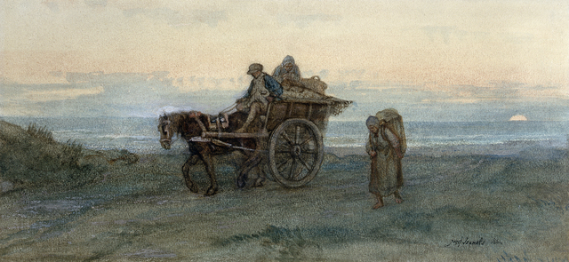 , 'The Seaweed Gatherers Return,' 1864, Jill Newhouse Gallery