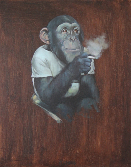 , 'Monkey with a Cigarette II,' 2014, Galerie Sandhofer