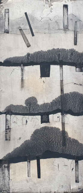 Manu vb Tintoré, 'Retall de terra 1', 2011, Painting, Water black pigment, N2 Galería