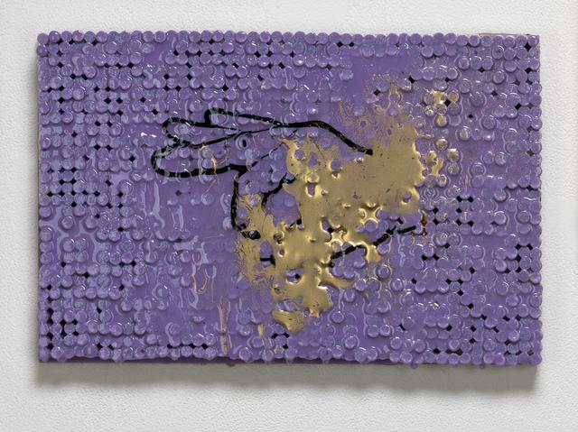 , 'OK Sign w/Purple and Gold,' 2018-2019, Elizabeth Leach Gallery