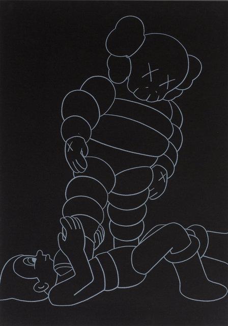 KAWS, 'Chum vs. Astroboy', 2002, Print, Screenprint on black wove paper, Heritage Auctions
