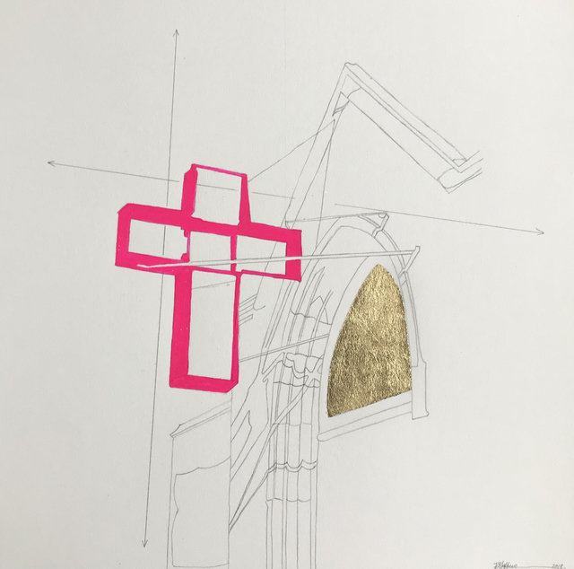 , 'Pink Cross,' 2018, K. Imperial Fine Art