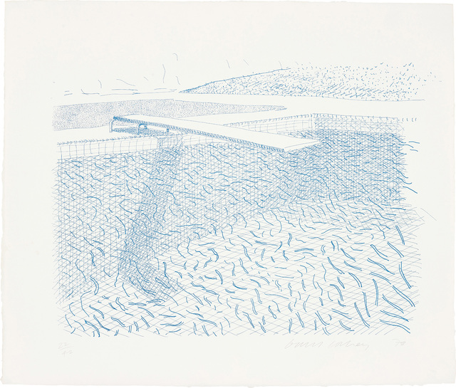 David Hockney, 'Lithographic Water made of lines', 1980, Phillips