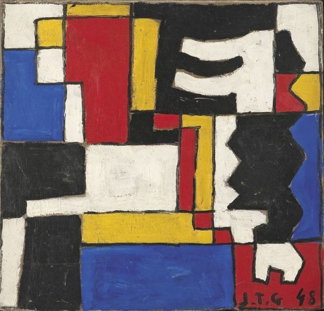 Joaquín Torres-García, 'Construcivo a cinco tonos con dos formas intrecaladas', Galeria Sur