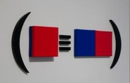 , 'Hipótesis para cuatro monocromos, un signo equivalencia y paréntesis,' 2013, Henrique Faria Fine Art