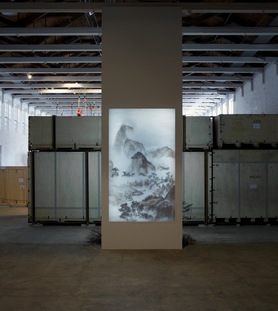 Xu Bing 徐冰, 'Background Story', 2012, Natural debris attached to acrylic panel, light box, MASS MoCA
