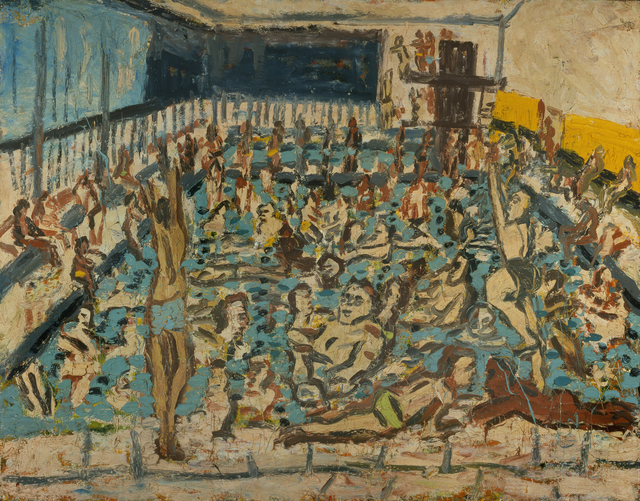 , 'Children's Swimming Pool, Autumn Afternoon, 1971,' 1971, J. Paul Getty Museum