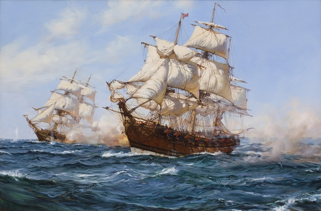 , 'The Privateer 'Virginian' capturing the 'Petit Madelon',' , Willow Gallery