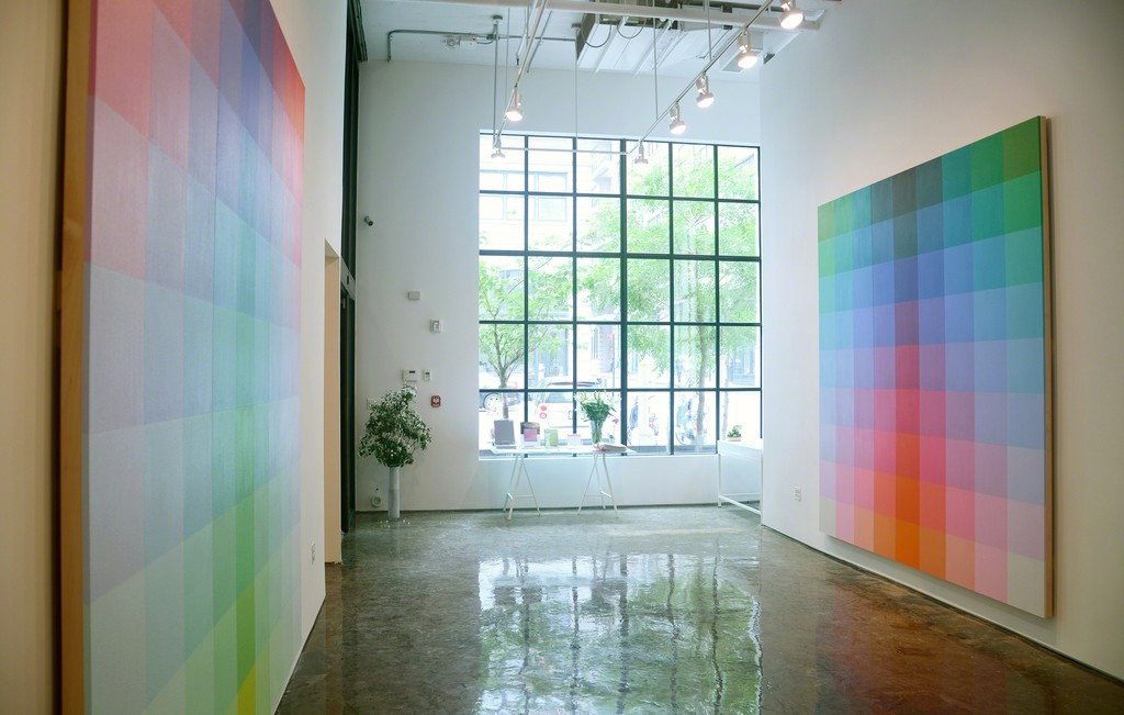 Installation view of Robert Swain: Color Energy, MINUS SPACE, Brooklyn, NY, 2015