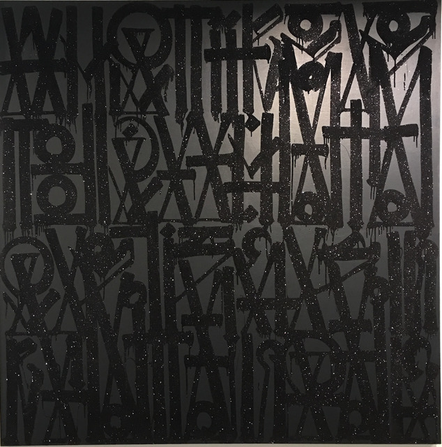 RETNA, 'What if I told you, you have this big square canvas to do whatever the fuck you want ', 2015, Dorian Grey Projects